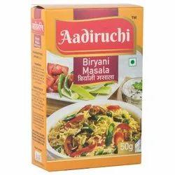 Aadiruchi Biryani Masala, Packaging Size: 50 g, Packaging Type: Packets