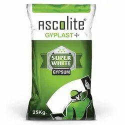 Ascolite Gyplast Plus Ultra White Gypsum Plaster, Packaging Type: Pp Bag, Packaging Size: 25 Kg