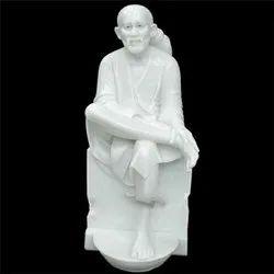 White Marble Soi Baba Statue