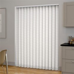 White Fabric Vertical Blinds, For Hotel