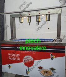 4 Nozzle Table Top  Pani Puri Filling Machine