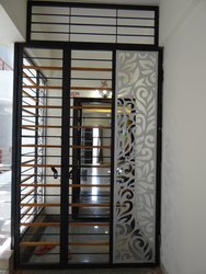 7 Feet Powder Coated Safety Grill Door