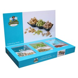 Jewel Farmer Premium Dry Fruits Box Combo 3 In 1 Designer Gift Hamper (750g)