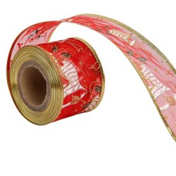 Lurex - Christmas Bells Ribbons  50mm/2'' Inch-10mtr-Length
