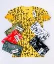 Color In Mens Halfsleeve Allover Printed T Shirts With Henley Neck