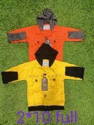 Plain Zipper Kids Jacket, Full Sleeves