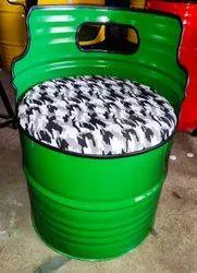 Gigantiques Paint Coated Barrel Chair, Size: Diam 23