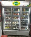 Three Glass Door Upright Display Fridge