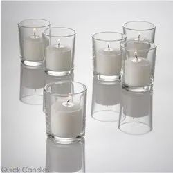 Clear Glass Candle Holders