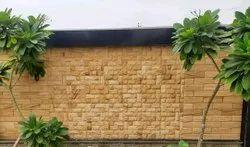 Teak Wood Sandstone Wall Panel