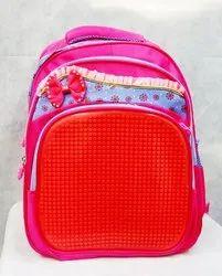 Pink Polyester Pithu Bag, Size/Dimension: 15*12