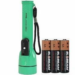0.75W ABS Plastic Wave LED Torch, Battery Type: 3-AA size
