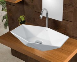 Wall Mounted White Spyker Ceramic Table Top Wash Basin