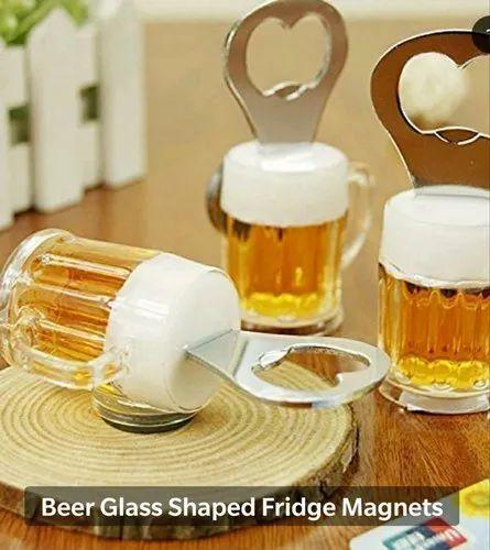 Beer Glass Shape Magnetic Bottle Opener