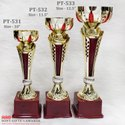 Design Long Tall Golden Red China Trophy Trophie