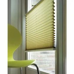 Polyester+Cotton Pleated Shades Blinds, For Window