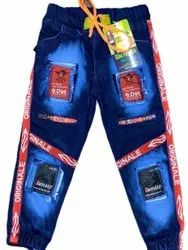 Sana Fashion Regular Kids Printed Denim Jeans, Waist Size: Available IN 22 to 32