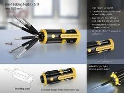 Safexi Folding Tool Kit With 4 LED Torch