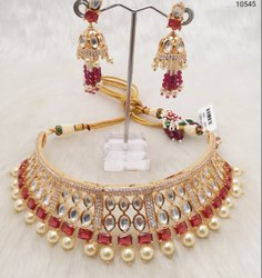 Women Kundan Fancy Bridal Chocker Set