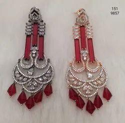 Red Fashion American Diamond Earring