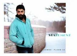 Mixed Full Sleeves Mens Hooded Sweatshirt, Machine wash, Zip