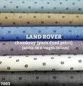 Land Rover Chambray Yarn Dyed Print Shirting Fabric