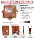 3 In 1 Faux Leather A5 Size Gift Set