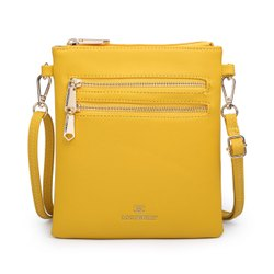 Shoulder Ladies Yellow Sling Bag, For Casual Wear, Size: 12*10 Inches