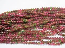 Watermelon Tourmaline Quartz 8mm Faceted Round Stone Bead Strands