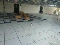 Commercial Building Server Room False Flooring Service, For Indoor, Fireproof