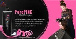 Cream Pure Pink Hair Developer, For Parlour, Plastic Bottle