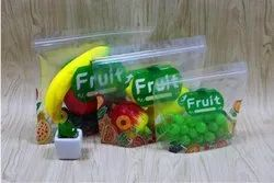 Printed Fruit Pouch With Stand Up Zipper