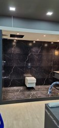 Kajaria black floor tiles