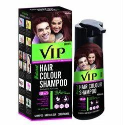 Liquid VIP Hair Color Shampoo, 400 Ml - Brown, For Personal, Box
