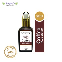 Rangrej's Aromatherapy Coffee Face Serum, Anti Ageing, Even Tone & Ultra Hydrating Skin 50ml