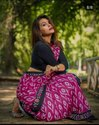 Casual Wear Ladies Handloom Printed Cotton Saree, 6.3 M (with Blouse Piece)