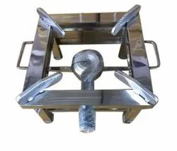 Ujala 1 Burner Stainless Steel Gas Stove, For Kitchen, Size: 10x10x8 Inch