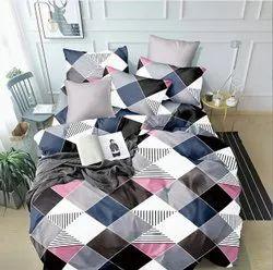 什锦印花棉布设计师5d床单,家居用,尺寸:90*100英寸