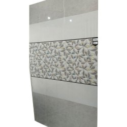 White And Grey Glossy Ceramic Designer Wall Tiles