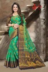 riva enterprise party wear banarasi silk saree