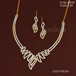 American Diamond Cubic Zirconia Necklace Set
