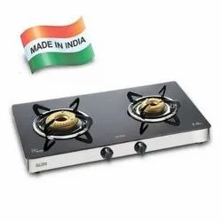 Glen 2 Burner Glass Cooktop 1021 GT Forged Burner High Flame