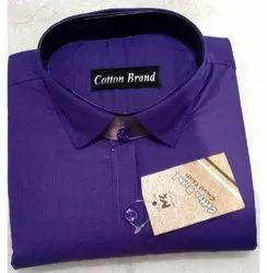 Cotton Brand Formal Wear Mens Fancy Oxford Plain Shirt