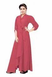 Heavy Georgette Festive Wear Styling Wrape Round Ring Midi, Size: XL