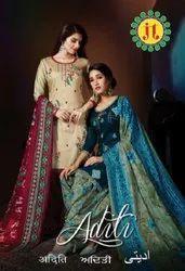 JT Aditi Jam Cotton With Work Designer Dress Material Catalog