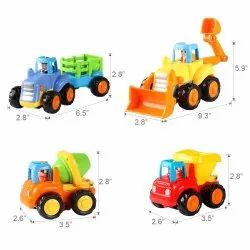 Indoor Plastic Unbreakable Construction Vehicles Toy Set Of 4, Child Age Group: 1 To 6 Years