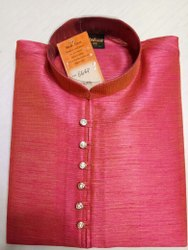 Party Wear Silk ethnic kurta pajama, Dry clean