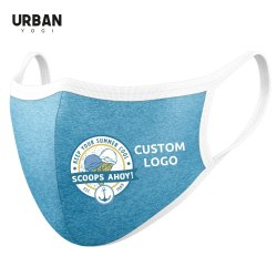 Custom Logo Face Mask OEM Cotton Heather Jersey Customised Logo Company Name Brand