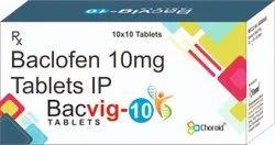 Baclofen 10 mg Tablets (Bacvig 10)