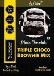 Eggless La Casa Triple Chocolate Brownie Mix - Black Chocolate, Packaging Type: Packet